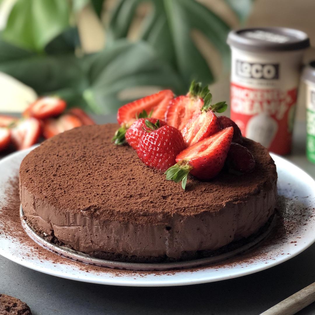 Triple Choc Ripple Mousse Cake